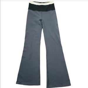 Lululemon Grey Black Yoga Lounge Pants Wide Leg